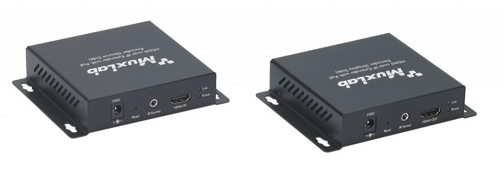 Muxlab HDMI över IP nätverk mottagare, PoE, 100 m