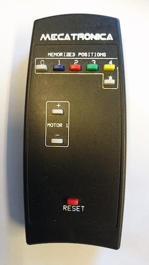Fjärrkontroll motoriserat takfäste 9 knappar