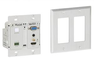 HDMI sändare för montering på vägg, Bi-Dir RS232, 60 m