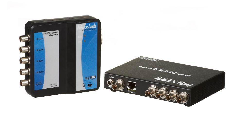 Muxlab 6G-SDI förlängningskit, upp till 4K, Cat