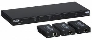 HDMI 4x3+1 Matrisväxel kit, 3 HDBaseT mottagare