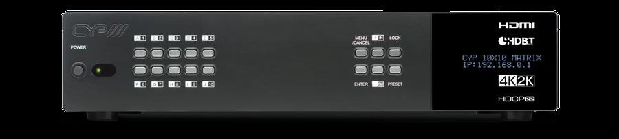 CYP/// HDMI - HDBaseT matris 10x8+2 med separat audio matris