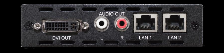 CYP/// DVI mottagare över HDBaseT, 100m, PoC, LAN, Analogt Ljud