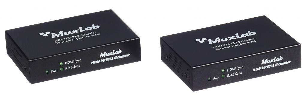 Muxlab HDMI / RS232 mottagare 70m