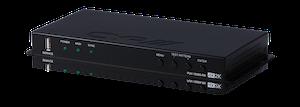 Full HDBaseT Mottagare med Scaler, 4K, PoH, LAN
