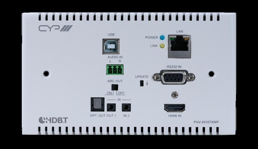 CYP/// HDBaseT 2.0 WP Sändare, 4K, HDCP 2.2, PoH, USB