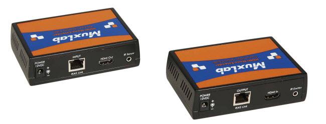 Muxlab HDMI Mono Extender Kit med HDBT och UHD-4K, 100m