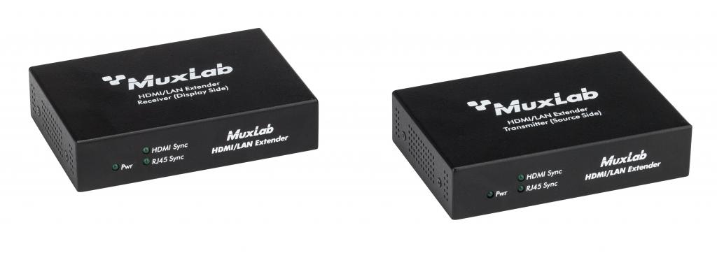 Muxlab HDMI/LAN Mono Extender Kit, HDBT, UHD-4K