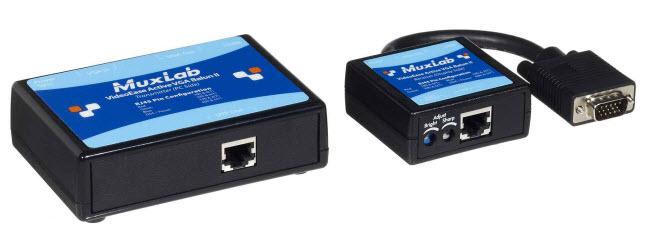 Muxlab PSU till Aktiv VGA II balun 12 V DC
