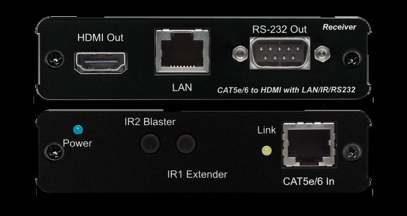 CYP/// HDMI förlängare över Cat6, KIT, 100m, 4K, PoE, RS232