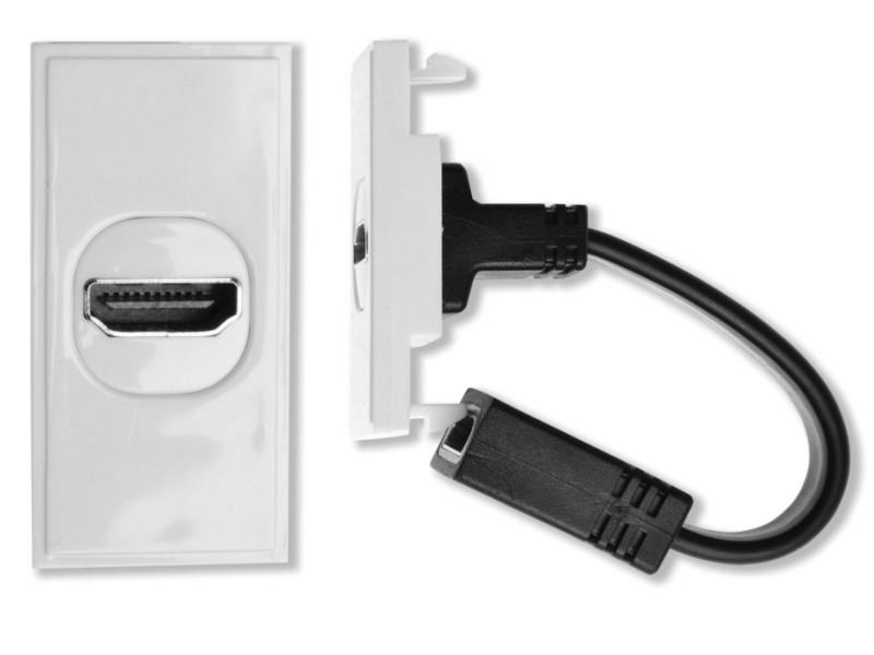 HDconnect HDMI modul med svans VIT