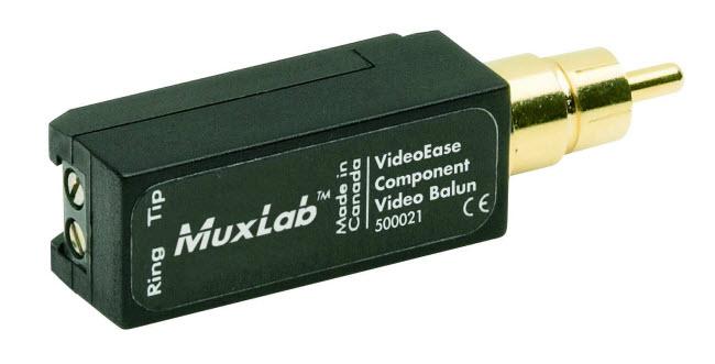Muxlab Balun för en Komponent del-signal (Y,Pb eller Pr)
