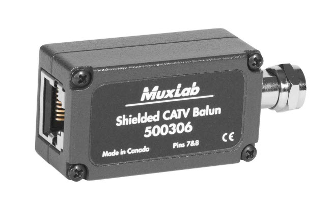 Muxlab Skärmad CATV balun för RF signaler