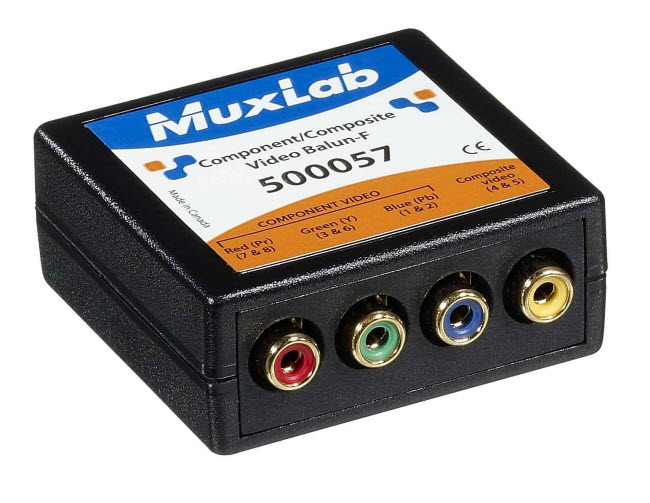 Muxlab Komponent- och komposit-video Balun, hane