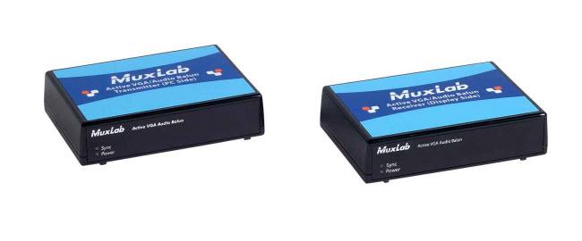 Muxlab Aktiv VGA Balun med Stereo ljud Sändare