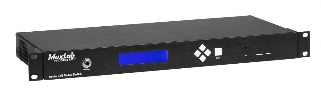Muxlab Matrisväxel för ljud 8x8