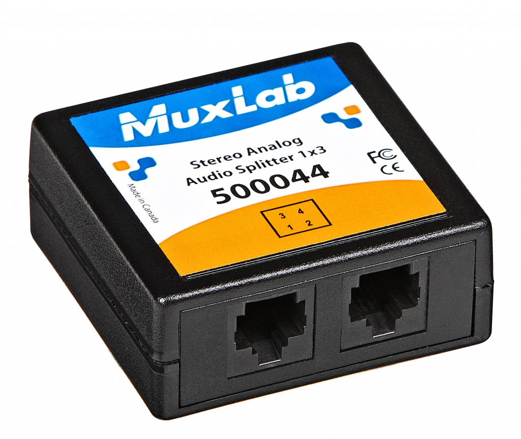 Muxlab Stereo Analog Audio Splitter 1:3
