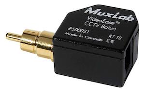 CCTV Balun med RCA kontakt
