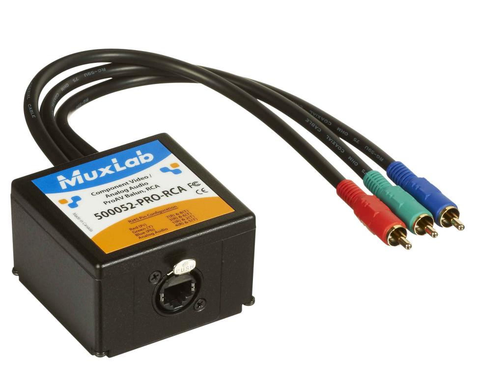 Muxlab Komponent (RCA) och Analogt Ljud ProAV balun