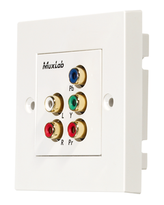 Muxlab Component Video/Stereo Audio Wall Plate Balun