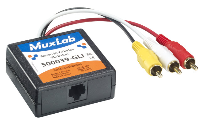 Muxlab Stereo Hi-Fi Video Balun med Ground Loop Insolation