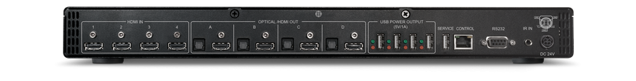 CYP/// HDMI Matris 4x4, 4K, HDMI/HDCP 2.0/2.2, Powered USB hub