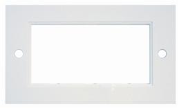 Digitaltvexperten Dubbelram för 4 moduler vit rak kant