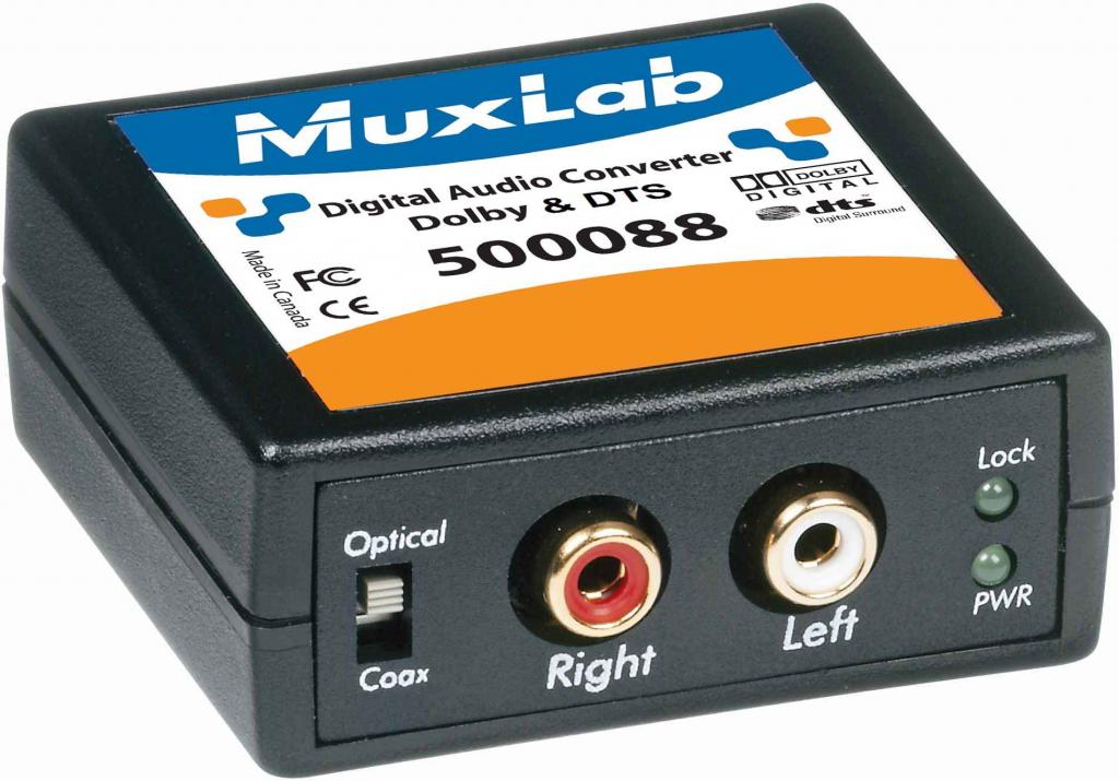 Muxlab Digital till Analog Konverter, Dolby Digital 5.1, DTS