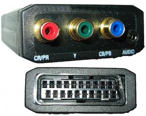 Komponent till SCART RGB konverter