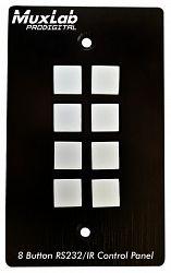 Muxlab Kontrollpanel med 8 knappar för RS232 och IR