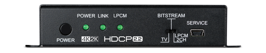 CYP/// HDMI audio de-embedder, 5.1 ljud, 4K, HDCP 2.2, HDMI 2.0