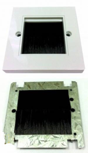 Universal modul med borste svart