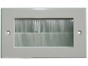 Universal modul med borste vit dubbel