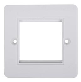 Digitaltvexperten Ram för 2 moduler vit rundad kant