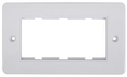 Digitaltvexperten Dubbel ram för 4 moduler vit rundad kant