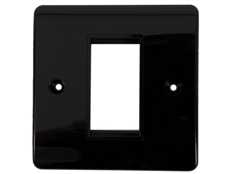 HDconnect Ram för 1 modul svart rundad kant