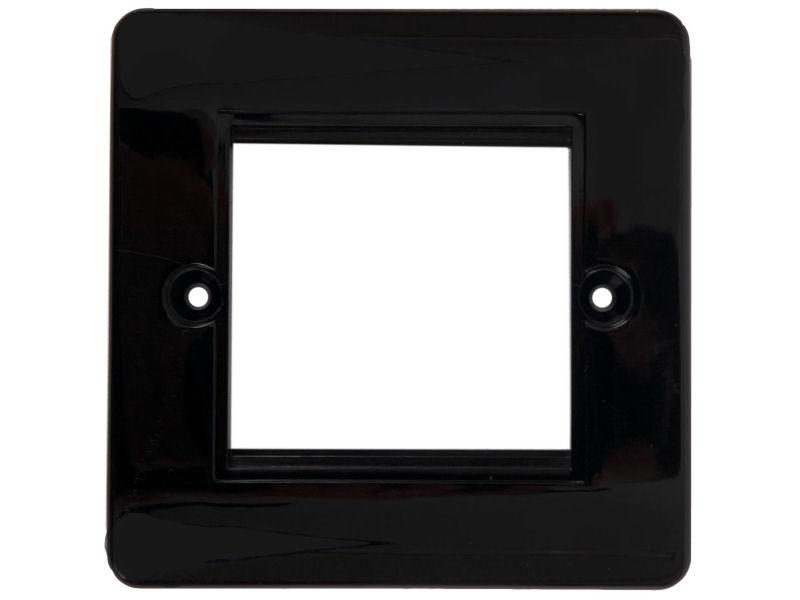 HDconnect Ram för 2 moduler svart rundad kant