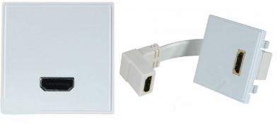 Digitaltvexperten Vägguttag HDMI med adapter hona