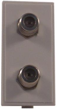Digitaltvexperten Modul Vägguttag F-kontakt dubbel