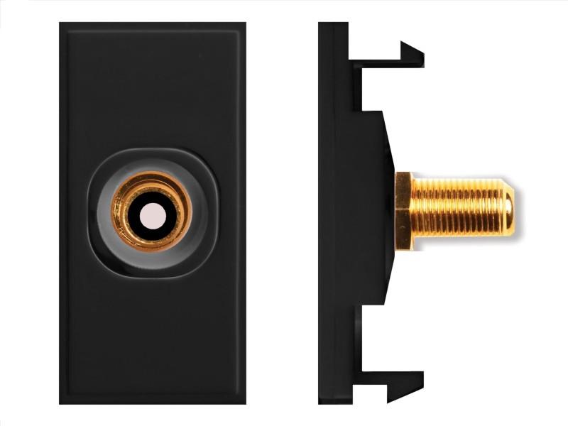 HDconnect Modul RCA till F-kontakt diskret svart