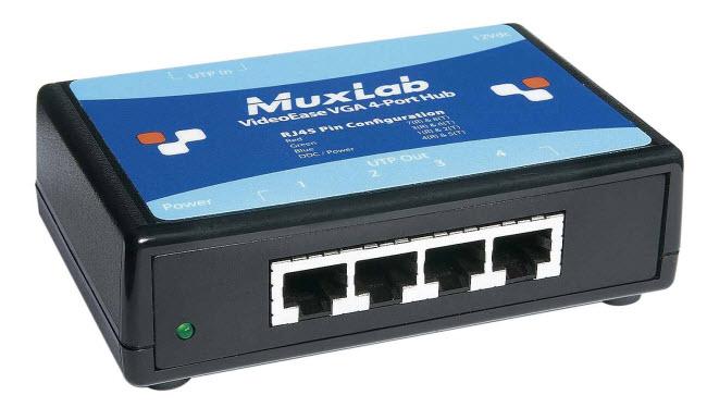 Muxlab VGA hub över nätverkskabel 1x4 (Tillbehör)
