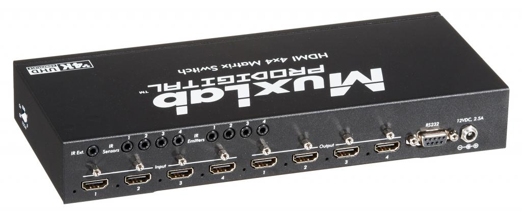 Muxlab HDMI 4x4 Matris växel