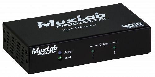 Muxlab HDMI splitter 1:2 med 4K UHD, 60 hz