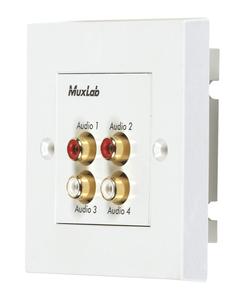 Muxlab Quad Audio Wall Plate Balun