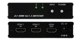 CYP/// HDMI switch / växel  2In, 1ut, v1.3