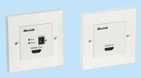 Muxlab HDMI Wall plate extender kit