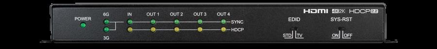 CYP/// HDMI splitter 1:4 med 4K UHD, HDMI2.0, HDCP2.2