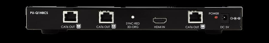 CYP/// 1:8 HDMI splitter över singel Cat6
