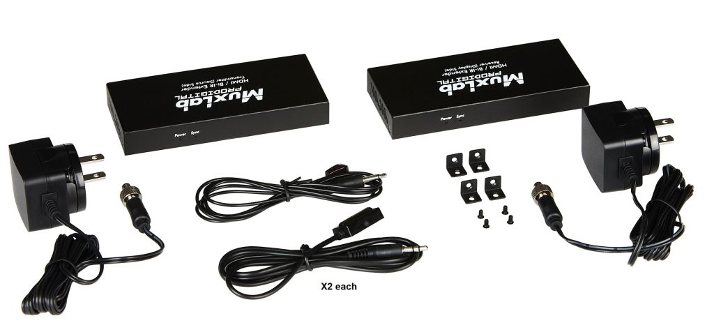 Muxlab HDMI extender kit med Bi-directional IR