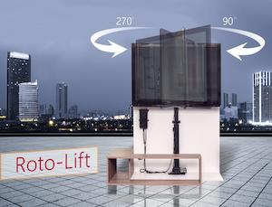 Tv - Lyft / Hiss 84cm med rotation och lucköppnare monterad